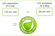 """My blog is carbon neutral"""
